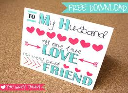Free Printable Anniversary Cards For Her Amazing Freebie Printable Card To My Husband A Love Note Card Penpals