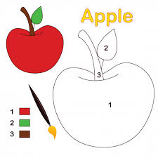 Small Picture Apple Color By Number Coloring Page KidsPressMagazinecom