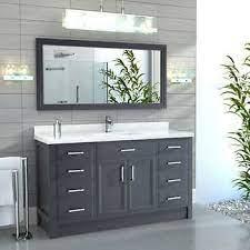 Calais 60 Pepper Gray Single Sink Vanity By Studio Bathe