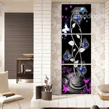 57 amazing abstract flowers and butterfly 3 panel canvas wall art prints on 3 panel wall art flowers with amazing abstract flowers and butterfly 3 panel canvas wall art
