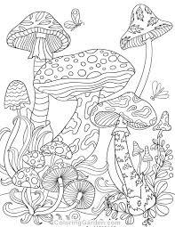 mushroom coloring page free printable mushrooms coloring page it in pdf