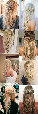 Half Up Half Down Wedding Hairstyles 56 Wonderful Chic Half Up Half Down Wedding Hairstyle Ideas HAR PiNS Pinterest