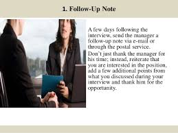 10 Things To Do After A Job Interview