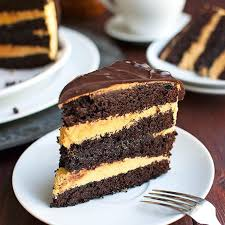 Salted Caramel Filled Chocolate Layer Cake With Pumpkin