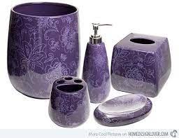 15 Elegant Purple Bathroom Accessories Home Design Lover Purple Bathrooms Purple Bathroom Accessories Bathroom Ornaments