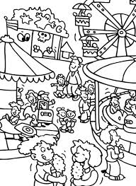 carnival coloring pages preschool jester colouring