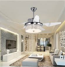 crystal ceiling chandelier fan modern restaurant household electric fan lights led with remote control inverter fans living room in ceiling fans from lights