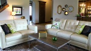 Leather Sofa Makeover Entertain Me Stylish Family Room Makeover In Yukon Sooner Spaces