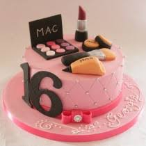 mac make up cake 16th birthday
