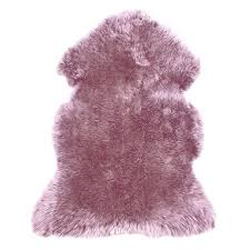 pink sheepskin rugs mauve rug large pale