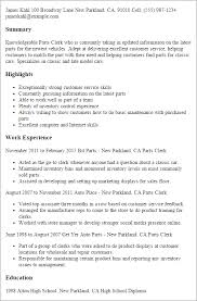 Image Gallery of Peachy Design Ideas Parts Of A Resume 16 Professional Parts  Clerk Templates To Showcase Your Talent