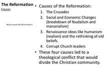 causes of the protestant reformation essay essays on gay causes of the protestant reformation essay