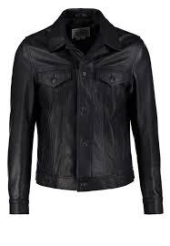120 leather jacket dark navy