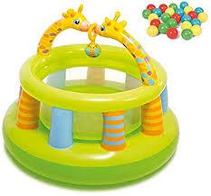 AJH <b>Bouncy</b> Castle <b>Kids</b>,<b>Children's</b> Inflatable Castle Baby Gym with ...