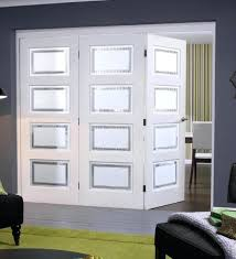 internal folding doors solid white primed contemporary internal folding sliding internal bifold doors with frosted glass