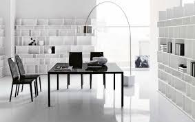selection home furniture modern design. Tech Office Desk Book Cabinet Lamp Round White Floor Square Chair Frame Windows Varnished Black Modern Furniture Selection Home Design