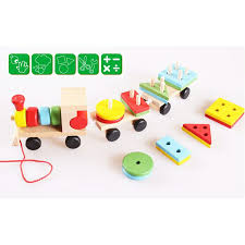 wooden toy toys shape sorting train children kids educational eye hand