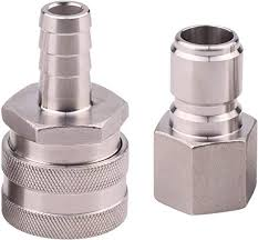DERNORD <b>Stainless Steel</b> Quick Disconnect Set - <b>Beer Brewing</b>