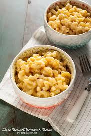 three cheese mac cheese recipe made