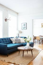 Blue Sofa Blue Sofas Applied In A Living Room With Library Hupehome