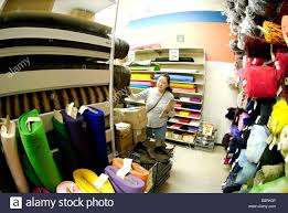 Fabric Store Interior Design Woman At A Fabric Store Stock Photo 22647430 Alamy