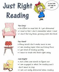 Just Right Book Chart Central Lyon Csd Just Right Reading
