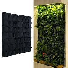 hanging wall planters outdoor pocket grow bags outdoor vertical greening hanging wall garden plant bags wall