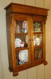 vintage rustic french country wall cabinet curio glass for