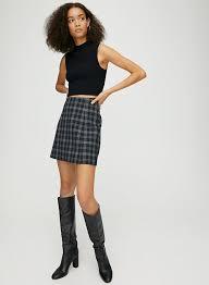 hopper check skirt plaid a line mini skirt