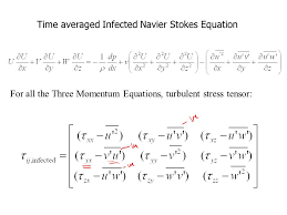 time averaged infected navier stokes equation