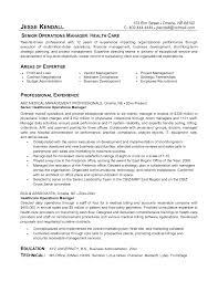 Business Management Resume Objective Resume Examples Healthcare Management Examples Healthcare