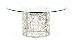 metal glass dining table metal base glass top dining table