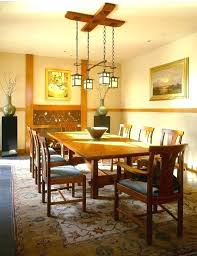 craftsman style lighting dining room mission style
