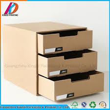 Hot Item 3 Drawer Kraft Paper Office Desk Document Storage Box