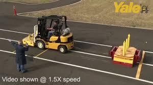 Yale® GP050MX vs. Toyota 8FGU25 Comparison: Drawbar Pull - YouTube