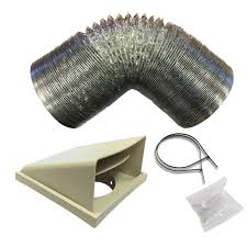 sia d3 125mm x 3m universal kitchen cooker hood extractor fan ducting vent kit kits