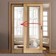 furniture elegant sliding door with glass xl oak full pane glazed op3 room ar exterior door