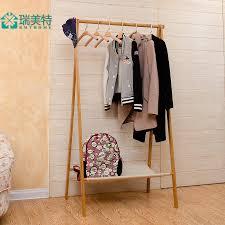 Hanger Style Coat Rack Rui US Teou style bamboo floor bedroom multifunction simple folding 82
