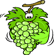 Image result for cartoon green grapes