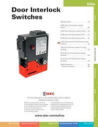 Complete Door Interlock Switches Catalog - IDEC - PDF Catalogue ...