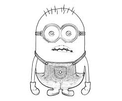 Small Picture Minion Coloring Pics Smiley Minion Despicable Me Coloring Pages