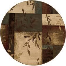 oriental weavers of america harper multicolor round indoor nature area rug common 8 x