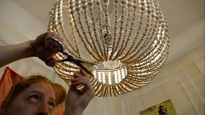 Diy Chandelier Beckys Diy Beaded Chandelier Becky Stern Youtube