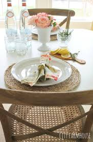 pottery barn inspired round jute placemats summer table city farmhouse