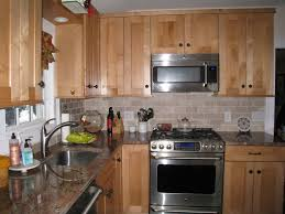 Maple Kitchen Cabinets Backsplash Home Design Ideas
