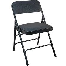 metal folding chairs with padded seats. Modren Metal Black Fabric Seat Padded Metal Folding Chair Intended Chairs With Seats D