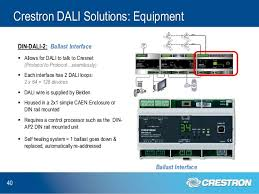 dali lighting control solutions explained crestron dali solutions equipment 40