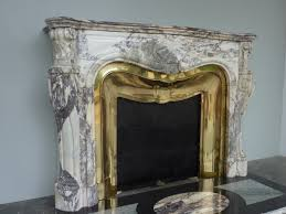 antique fireplace marble louis xv