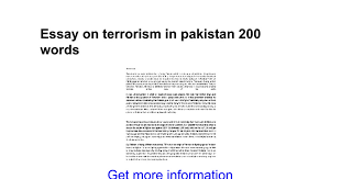 essay on terrorism in words google docs