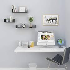 homdox floating u shaped wall shelves